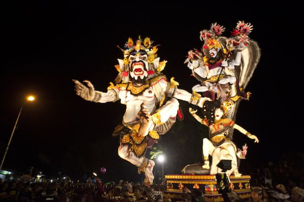 Ogoh-ogoh is a giant puppet for the Ngerupuk parade, which takes place on the eve of Nyepi day in Bali. Ogoh-ogoh is normally is made in form of Bhuta Kala or evil spirits and creatures who like to disturb human's life.