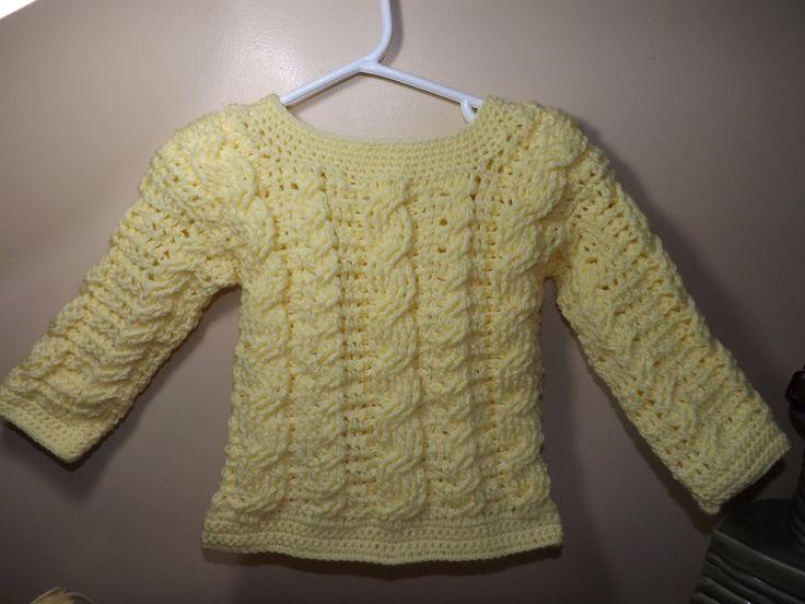 Crochet Abrigo Para Bebe' De Trenzas a Crochet Parte 1 De 2