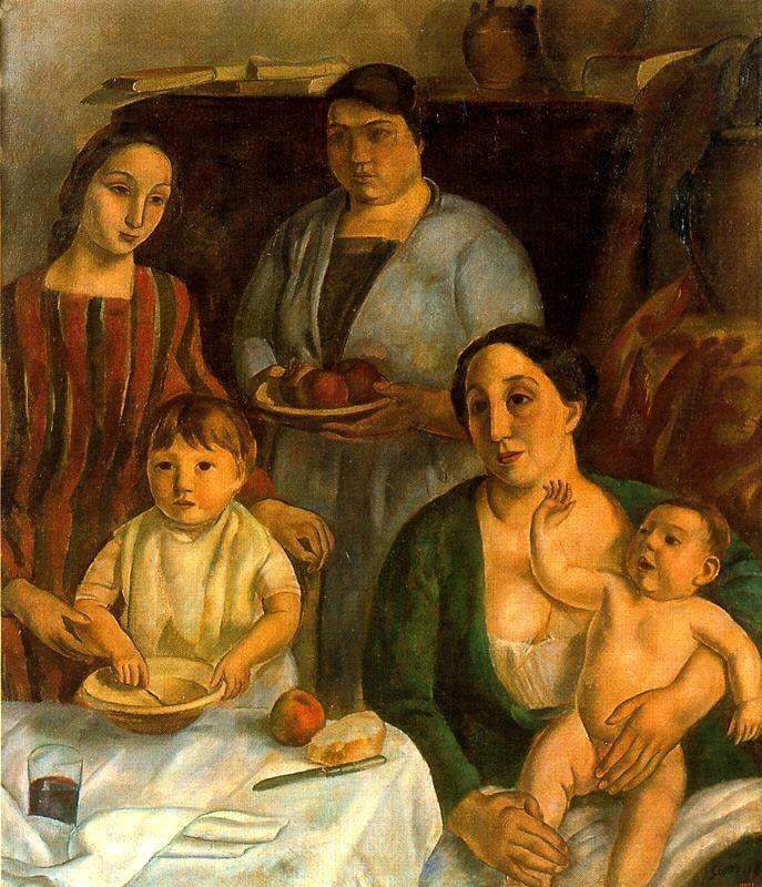 'Mi Familia' by Catalan painter Joaquim Sunyer (1874-1956). via foro xerbar