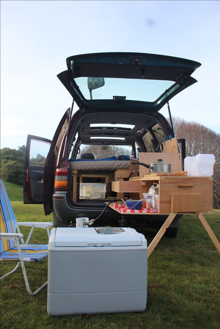 Travel light Mini Van Camper Conversion Sliding Table and Van bed Van life cheap way to escape the daily life nd enjoy nature