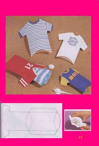 T-shirt shaped pillow boxes Cajita en forma de camiseta. Stel:-)