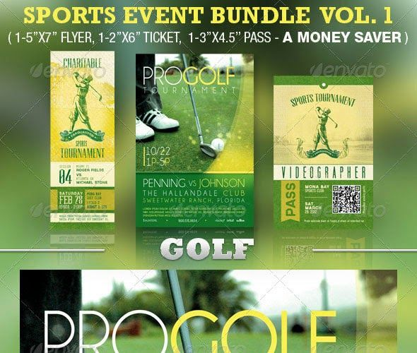 Best Awesome Golf Tournament Flyer Design Images On