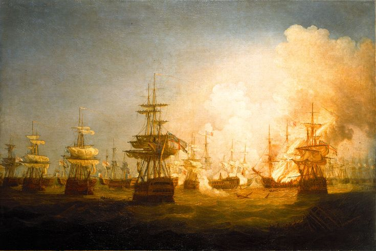 The Battle of the Nile 1 August 1798 End of the Action  Thomas Whitcombe National Maritime Museum