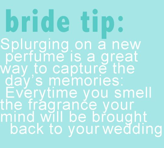 """Great idea. And it will always make you think of your special wedding day."" Love it."