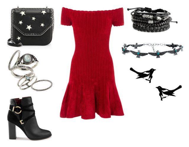 """""""danni's party dress"""" by marauderslife on Polyvore featuring Rails, Miss Selfridge, STELLA McCARTNEY, Topshop and Bling Jewelry"""