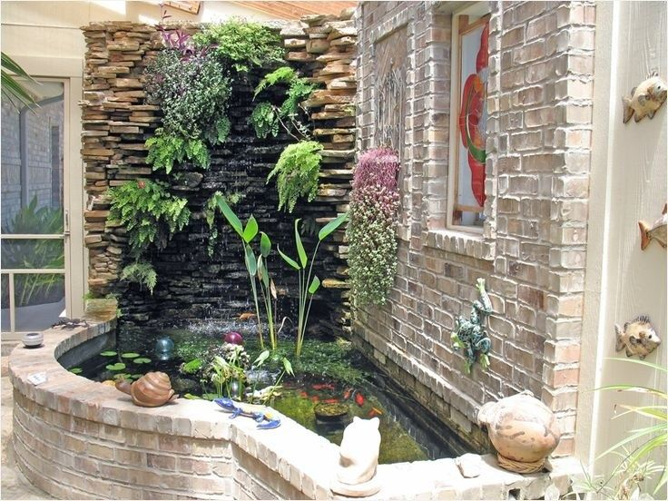 43 Fresh Stunning Indoor Fish Ponds With Waterfall Ideas Daily Home List Indoor Water Garden Indoor Waterfall Indoor Water Features