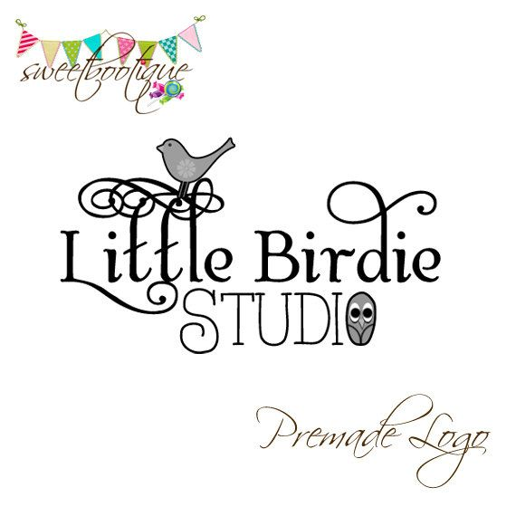 FULLY CUSTOMISABLE  Premade Logo  Little Birdie by SweetBootique