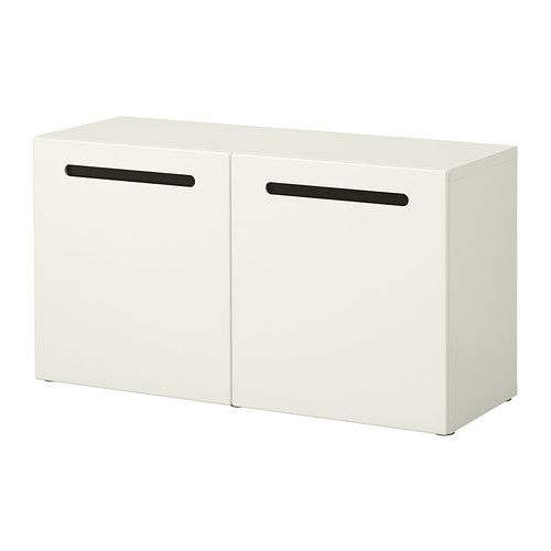 Best shelf unit with glass doors marviken white 47 1 for Ikea besta storage boxes