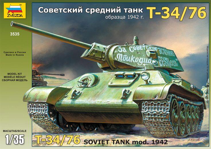 Maquette - Т-34/76 Soviet tank mod. 1942 - Zvezda 3535