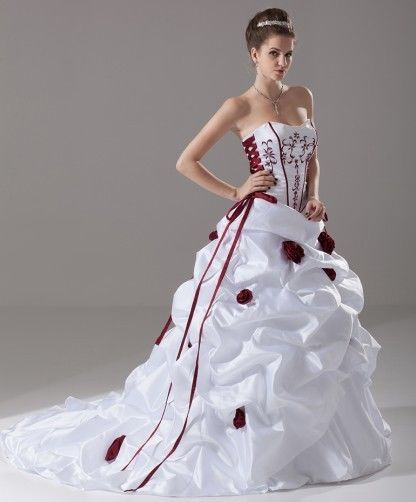 Wedding dresses red black and white bedrooms