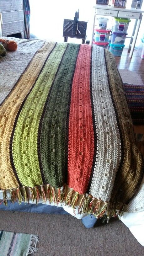 Piesera de lana tejida a crochet