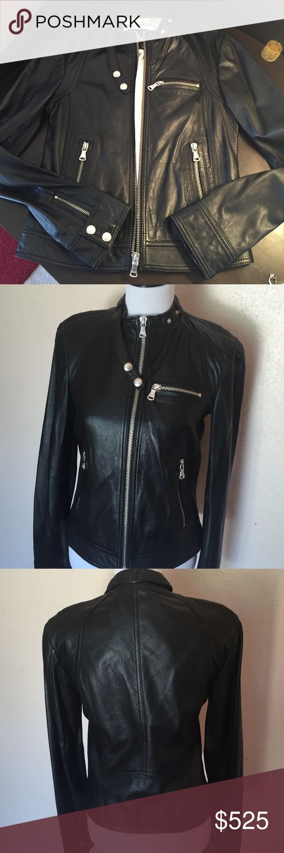 D&G leather Moto jacket Clothes design, Leather moto