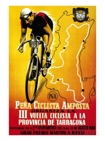 Bicycle Racing Promotion Prints by Lantern Press at AllPosters.com