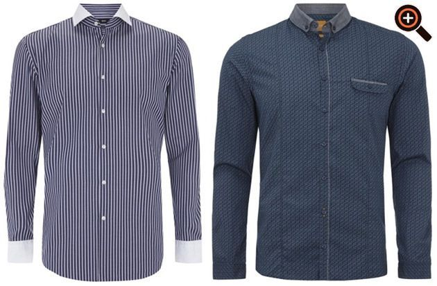 Hugo Boss Hemden - Slim Fit Designer Hemd - schwarz weiß & Print - Sale & Outlet
