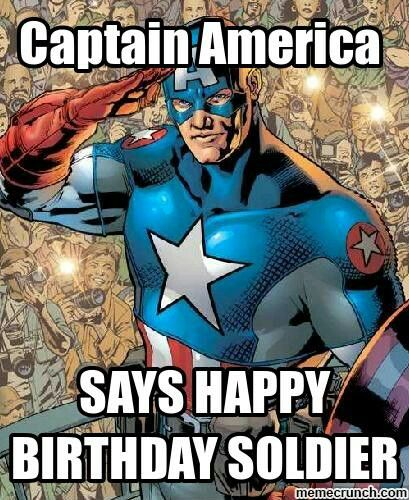 Captain America birthday wishes