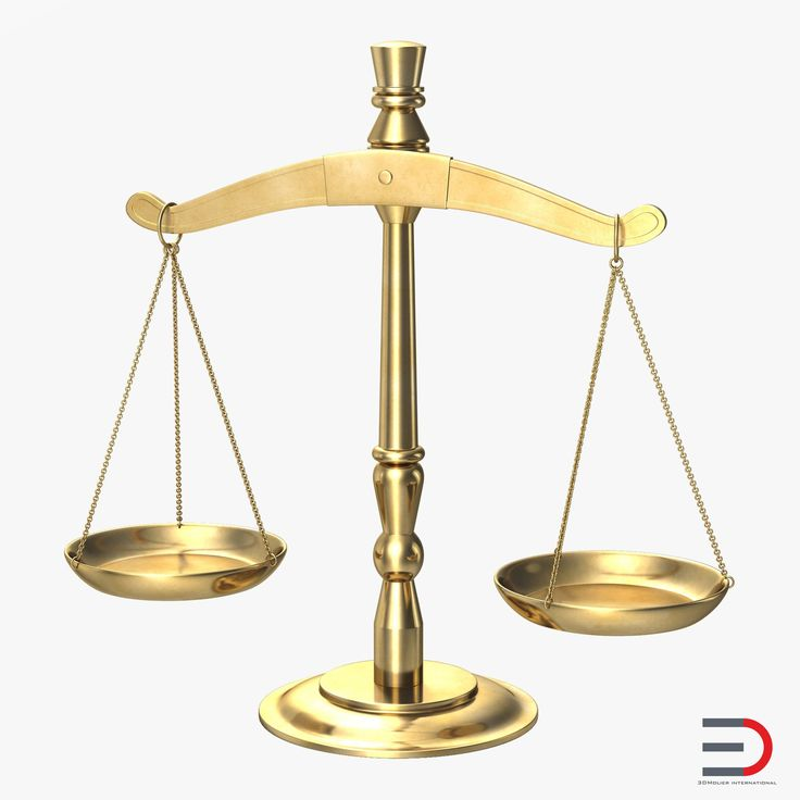 Legal Scales 3d model