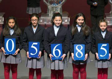 05685: primer premio del sorteo de la Lotería del Niño
