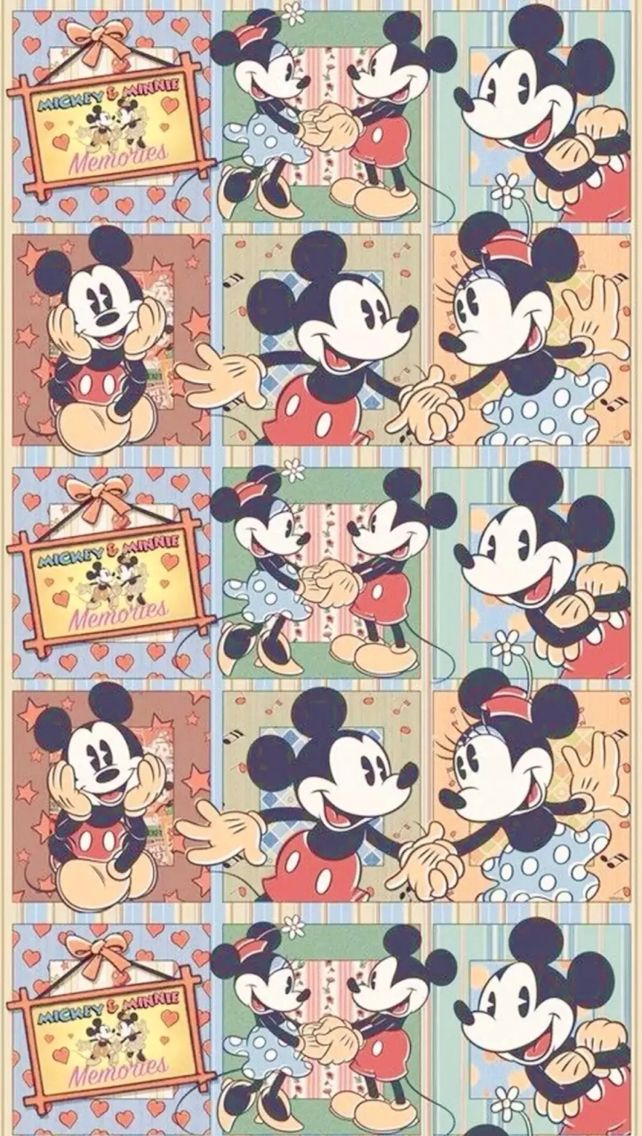 683 best pattern images on pinterest iphone backgrounds - Mickey mouse retro wallpaper ...