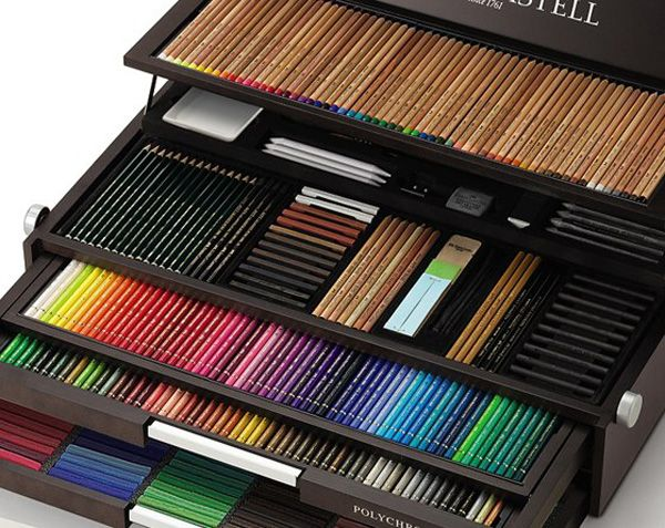 OMG! -br Faber Castell 250th Anniversary Limited Edition Wooden Case.I love such cases since I was a child.: Editing Wooden, Limited Editing, Castell Sets, 250Th Anniversaries, Castell 250Th, Art Supplies, Art Sake, Faber Castell, Anniversaries Limited