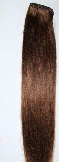 160 GRAMS! CHOOSE LENGTH WEFT HUMAN HAIR EXTENSIONS #4 MEDIUM BROWN BODY BLING #BodyBling #HairExtension