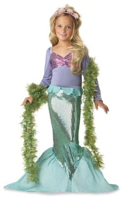 The Little Mermaid Premium Toddler Halloween Costume & Shell Tiara sz 2 3 girl's Ariel Dress Up Toys