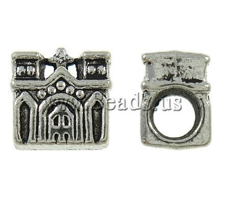 Wholesale Zinc Alloy European Beads,women Fashion, House, Antique Silver Color Plated, Without Troll, Nickel, Lead & Cadmium Free Online with $30.54/Piece | DHgate
