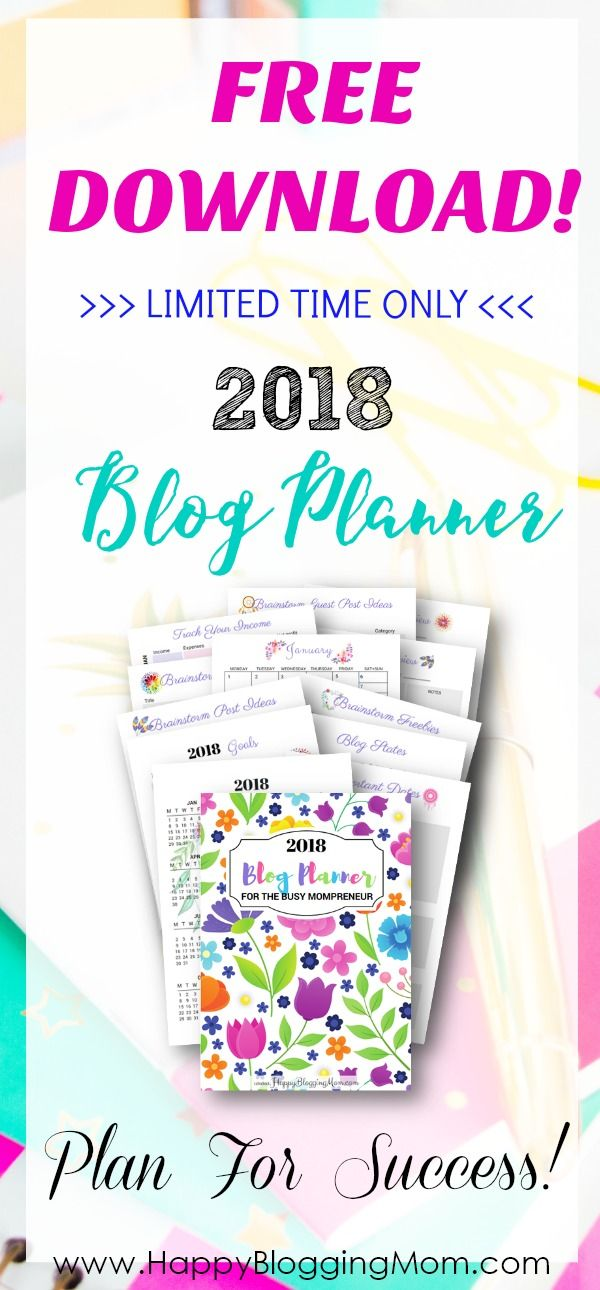 This FREE blog planner will help you to achieve success with your blog in 2018! Click Here to get your FREE blog planning printable! via @HappyBloggingMo