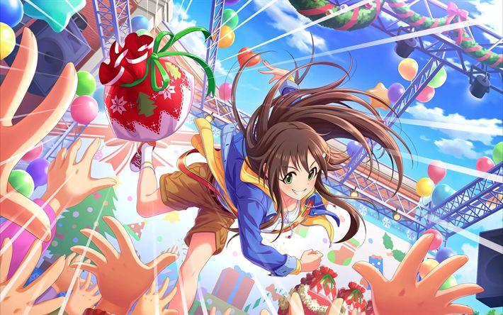 Download wallpapers Minami Nitta, anime characters, The Idolmaster Cinderella Girls, manga, Idolmaster