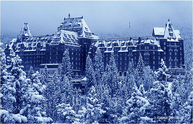 Banff Springs Hotel by Robert Berdan © // hotels are expensive in the Canadian Rockies