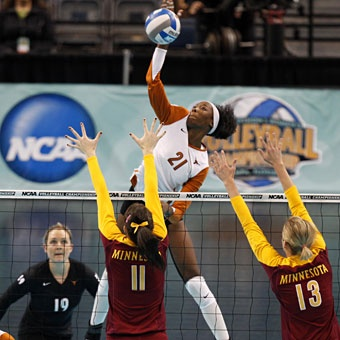 Destinee Hooker is Ivy's favorite player.  She looks up to Destinee, who is now on the USA volleyball team. Check out her vertical jump!