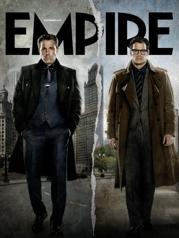 Batman v Superman Empire cover de Bruce Wayne et Clark Kent