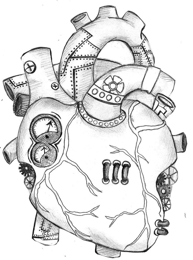 Mechanical Art Drawings | mechanical heart by spottedcricket traditional art drawings other 2011 ...
