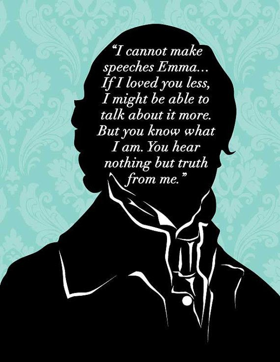 Bookish - Jane Austen Emma - Quote Poster 8x10 - Mr Knightly Proposal - Literary Art - Teachers Gift - Book Lovers - Literature In Jane Austens