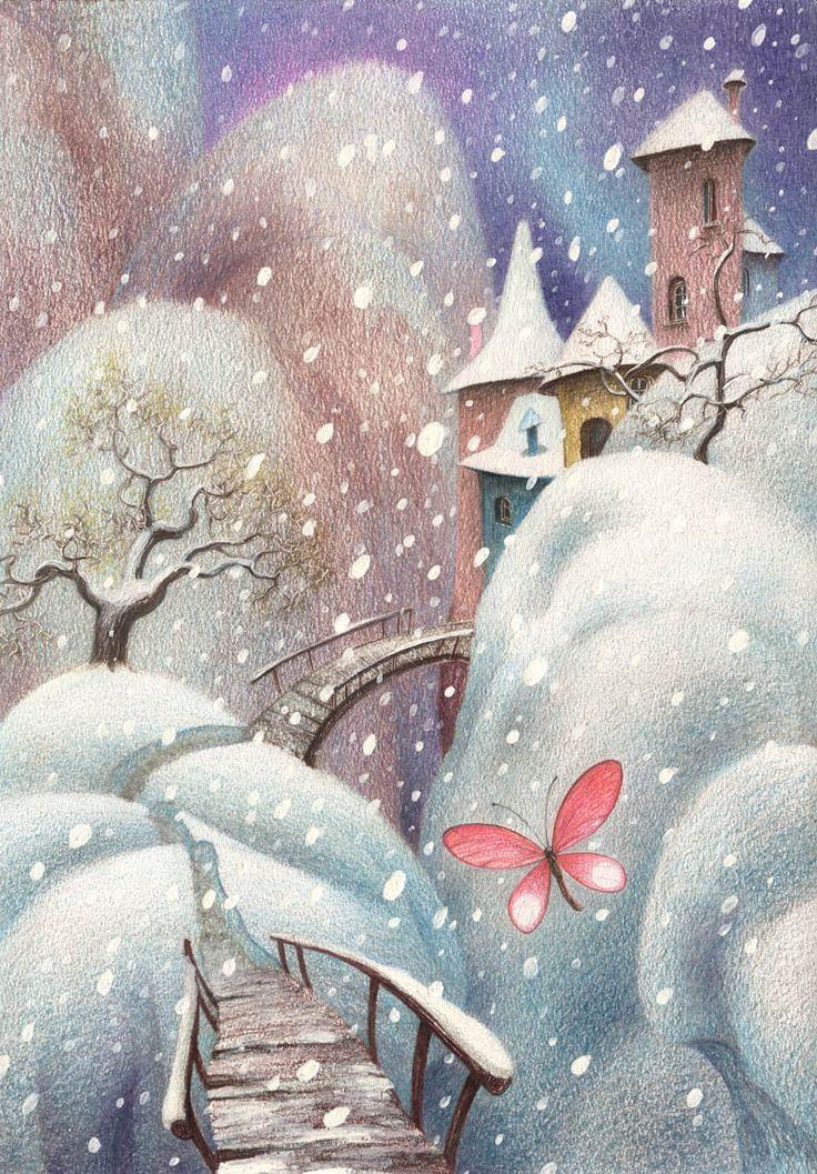 Картинки, открытки зима день рождения