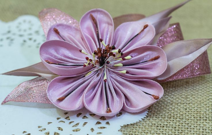 A personal favourite from my Etsy shop https://www.etsy.com/ie/listing/575037462/lovely-kanzashi-silk-flower-dust-pink