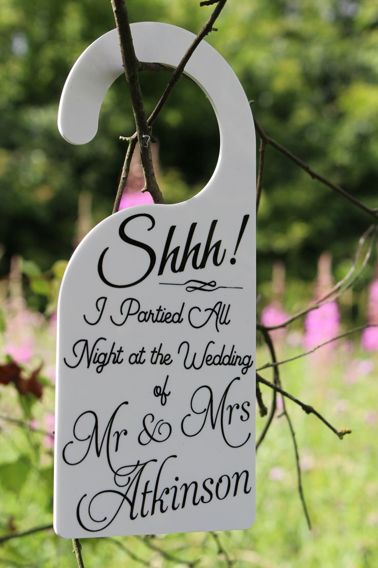 Personalised door hanger from the 'Be Together' collection for those who have danced the night away.   Perfect for the wedding party or bridesmaid gifts or just a lovely keepsake to remember that special day!