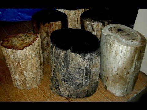 Petrified Wood Stools Sale - YouTube