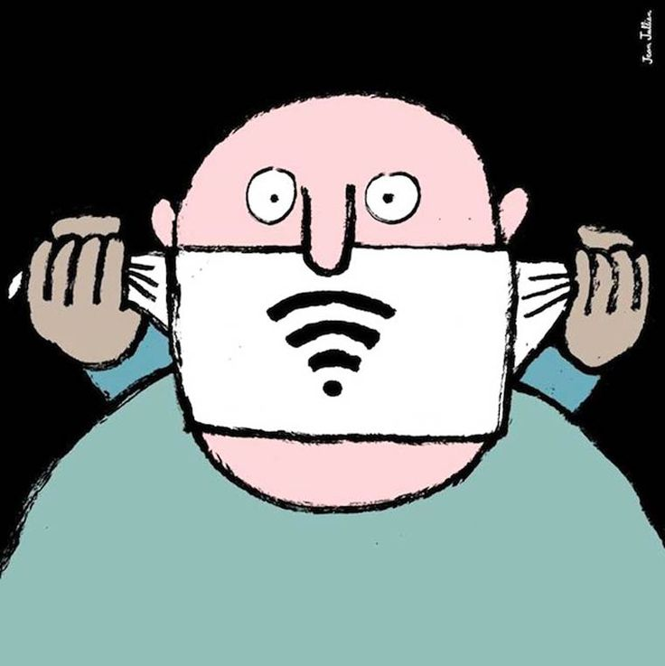 Nom d'un WIFI, ferme-la ! / Illustration. / By Jean-Jullien.
