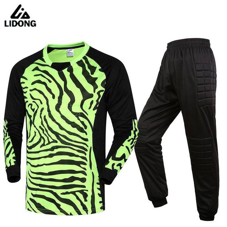 check price new soccer goalkeeper jersey men maillot de foot 2016 2017 kids training football goal #goalkeeper #jerseys