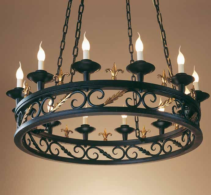 Medieval wrought iron chandelier by effebiweb.com