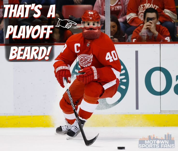 """If only it were an """"awesome beard"""" competition! #RedWings"""