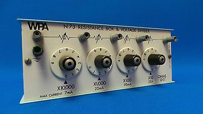 WPA N73 School Science Electronics Lab Decade Resistance Box Voltage Divider