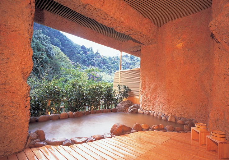 Outdoor bath in Korokan. You can feel flesh air and the best quolity onsen.
