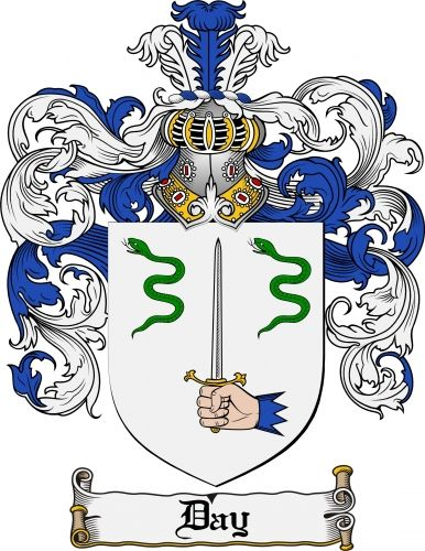 Day Coat of Arms Day Family Crest Instant Download - for sale ...