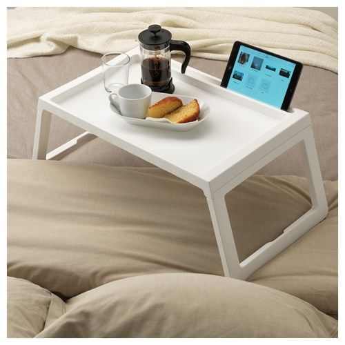 KLIPSK yatak tepsisi, beyaz, 56x36x26 cm | IKEA Türkiye