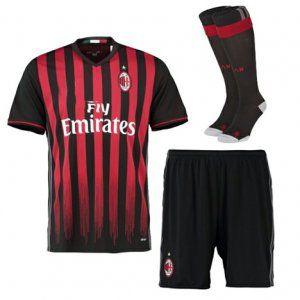 16-17 AC Milan Home Cheap Soccer Kit (Shirt+Shorts+Socks) [G00544]