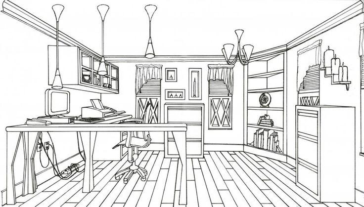 Line Art Floors : Line drawing home offfice interior drawings pinterest