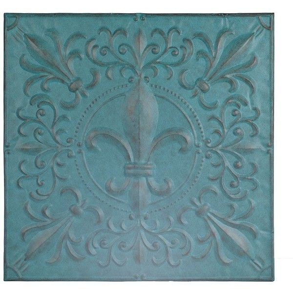 Turquoise Fleur-de-Lis Tile Metal Plaque ($40) ❤ liked on Polyvore featuring home, home decor, turquoise home decor, bronze plaques, fleur de lis home decor, turquoise home accessories and fleur de lis plaque