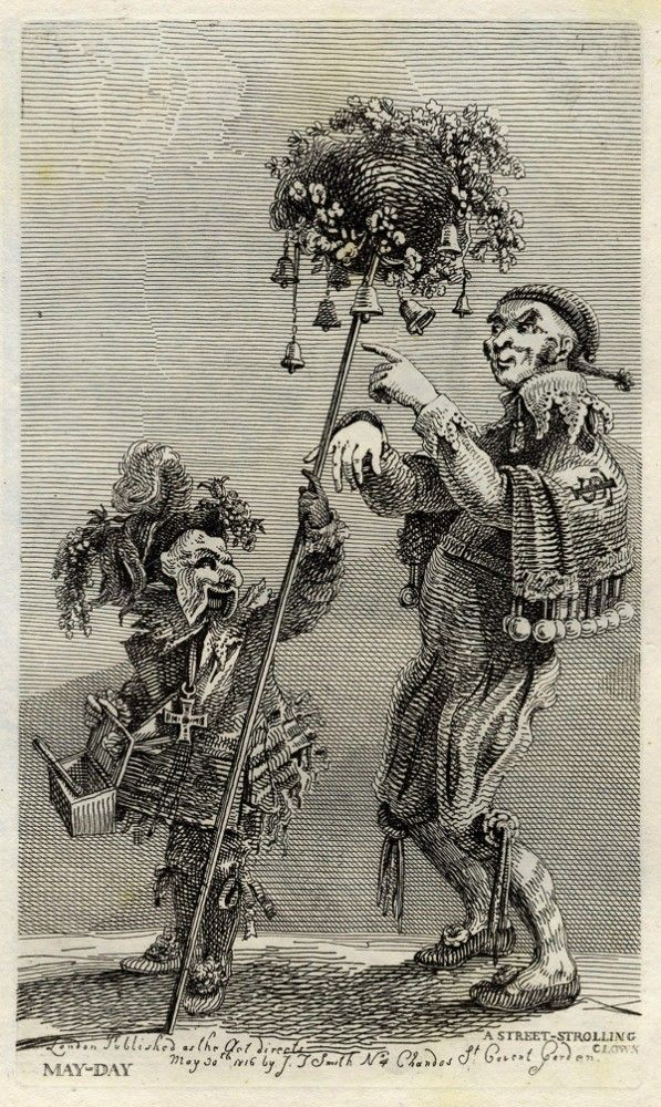 """Vagabondiana"" by John Thomas Smith (1817): ""Strolling clowns"""