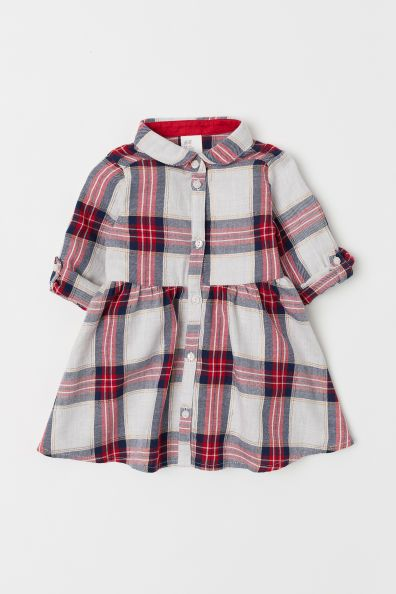 0a279f77b Checked Shirt Dress | Santa Sessions | Girls clothes shops, Baby ...